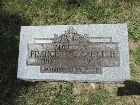 VLACANCICH, FANCES - Franklin County, Ohio   FANCES VLACANCICH - Ohio Gravestone Photos