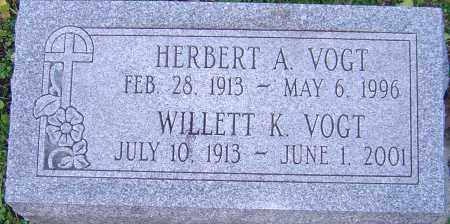 VOGT, WILLETT - Franklin County, Ohio | WILLETT VOGT - Ohio Gravestone Photos