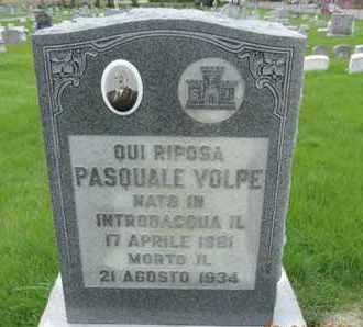 VOLPE, PASQUALE - Franklin County, Ohio | PASQUALE VOLPE - Ohio Gravestone Photos