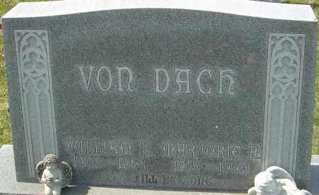 VON DACH, WILLIAM F - Franklin County, Ohio   WILLIAM F VON DACH - Ohio Gravestone Photos