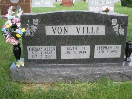 VON VILLE, THOMAS ALLEN - Franklin County, Ohio | THOMAS ALLEN VON VILLE - Ohio Gravestone Photos