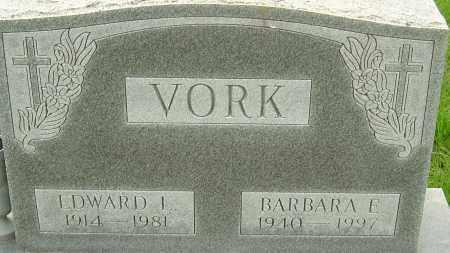 VORK, BARBARA E - Franklin County, Ohio | BARBARA E VORK - Ohio Gravestone Photos