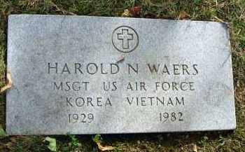 WAERS, HAROLD N. - Franklin County, Ohio | HAROLD N. WAERS - Ohio Gravestone Photos