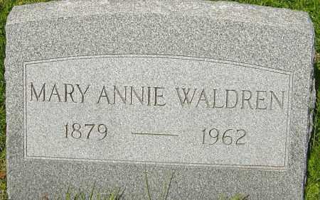 WALDREN, MARY ANNIE - Franklin County, Ohio | MARY ANNIE WALDREN - Ohio Gravestone Photos