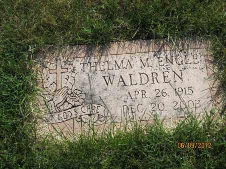 WALDREN, THELMA MAE - Franklin County, Ohio | THELMA MAE WALDREN - Ohio Gravestone Photos