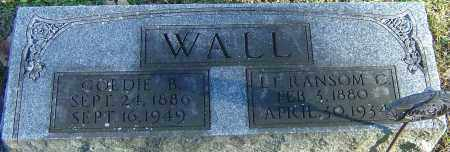 WALL, GOLDIE B - Franklin County, Ohio | GOLDIE B WALL - Ohio Gravestone Photos