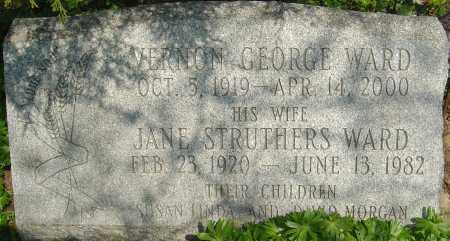 STRUTHERS WARD, JANE - Franklin County, Ohio | JANE STRUTHERS WARD - Ohio Gravestone Photos
