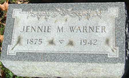 CASE WARNER, JENNIE M - Franklin County, Ohio | JENNIE M CASE WARNER - Ohio Gravestone Photos
