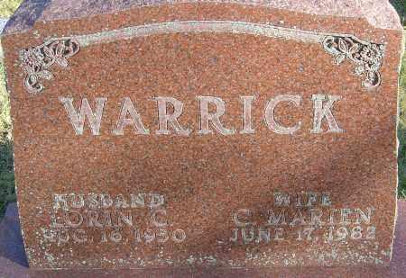 WARRICK, C MARIEN - Franklin County, Ohio | C MARIEN WARRICK - Ohio Gravestone Photos