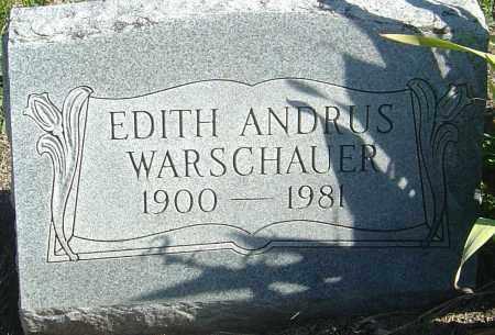 ANDRUS WARSCHAUER, EDITH - Franklin County, Ohio   EDITH ANDRUS WARSCHAUER - Ohio Gravestone Photos