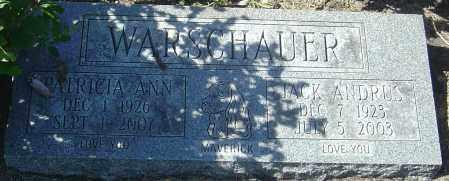 WARSCHAUER, PATRICIA ANN - Franklin County, Ohio | PATRICIA ANN WARSCHAUER - Ohio Gravestone Photos