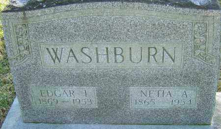 WASHBURN, NETIA A - Franklin County, Ohio | NETIA A WASHBURN - Ohio Gravestone Photos