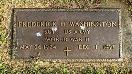 WASHINGTON, FREDERICK H. - Franklin County, Ohio   FREDERICK H. WASHINGTON - Ohio Gravestone Photos