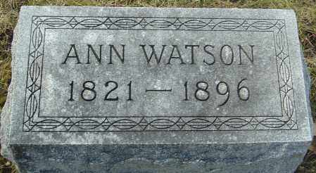 WATSON, ANN - Franklin County, Ohio   ANN WATSON - Ohio Gravestone Photos