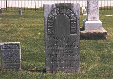 WATSON, ELIZABETH - Franklin County, Ohio | ELIZABETH WATSON - Ohio Gravestone Photos