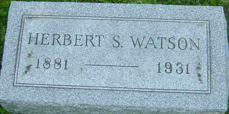 WATSON, HERBERT S - Franklin County, Ohio   HERBERT S WATSON - Ohio Gravestone Photos