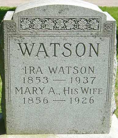 WATSON, IRA - Franklin County, Ohio | IRA WATSON - Ohio Gravestone Photos