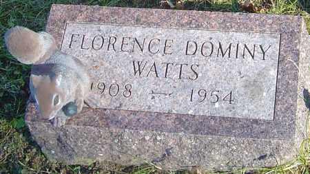 DOMINY WATTS, FLORENCE - Franklin County, Ohio | FLORENCE DOMINY WATTS - Ohio Gravestone Photos