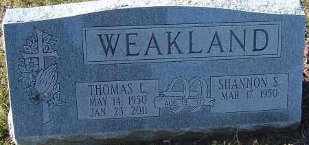 WEAKLAND, THOMAS L - Franklin County, Ohio | THOMAS L WEAKLAND - Ohio Gravestone Photos
