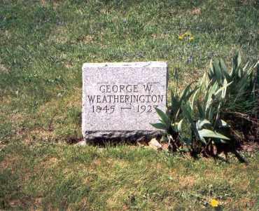 WEATHERINGTON, GEORGE W. - Franklin County, Ohio   GEORGE W. WEATHERINGTON - Ohio Gravestone Photos