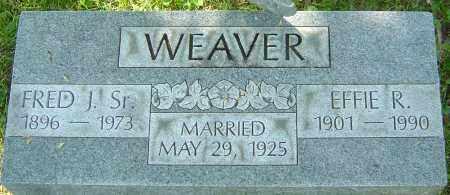 WEAVER SR, FRED J - Franklin County, Ohio | FRED J WEAVER SR - Ohio Gravestone Photos