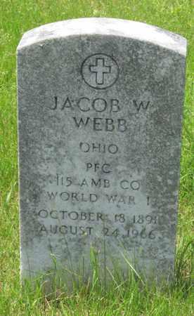 WEBB, JACOB W. - Franklin County, Ohio | JACOB W. WEBB - Ohio Gravestone Photos