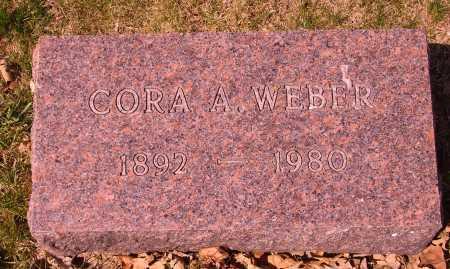WEBER, CORA A. - Franklin County, Ohio   CORA A. WEBER - Ohio Gravestone Photos