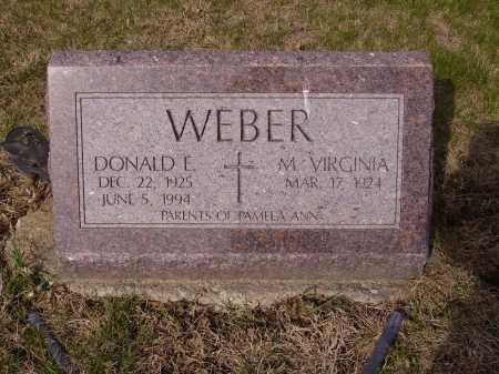 WEBER, M. VIRGINIA - Franklin County, Ohio | M. VIRGINIA WEBER - Ohio Gravestone Photos