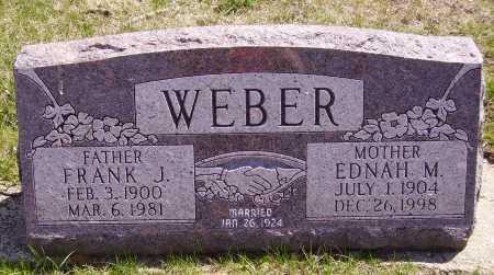 WEBER, EDNAH M. - Franklin County, Ohio | EDNAH M. WEBER - Ohio Gravestone Photos