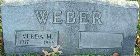 WEBER, VERDA - Franklin County, Ohio | VERDA WEBER - Ohio Gravestone Photos