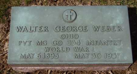 WEBER, WALTER GEORGE - Franklin County, Ohio | WALTER GEORGE WEBER - Ohio Gravestone Photos