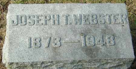 WEBSTER, JOSEPH T - Franklin County, Ohio | JOSEPH T WEBSTER - Ohio Gravestone Photos
