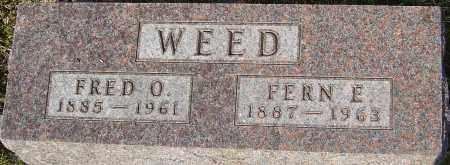 WEED, FERN - Franklin County, Ohio | FERN WEED - Ohio Gravestone Photos