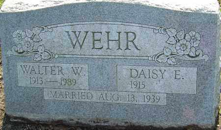WEHR, WALTER W - Franklin County, Ohio | WALTER W WEHR - Ohio Gravestone Photos