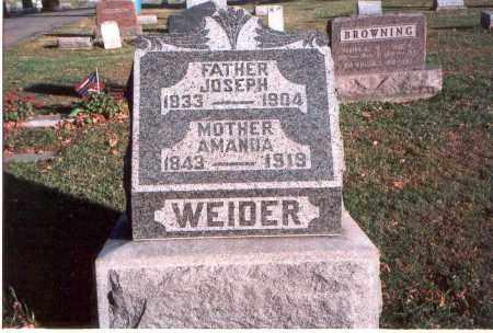 WEIDER, ANN AMANDA - Franklin County, Ohio   ANN AMANDA WEIDER - Ohio Gravestone Photos
