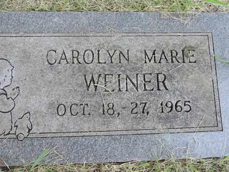 WEINER, CAROLYN MARIE - Franklin County, Ohio | CAROLYN MARIE WEINER - Ohio Gravestone Photos