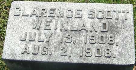 WEINLAND, CLARENCE SCOTT - Franklin County, Ohio   CLARENCE SCOTT WEINLAND - Ohio Gravestone Photos