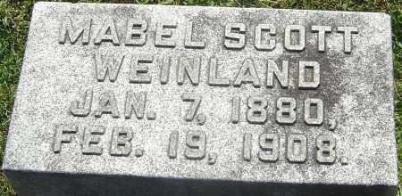SCOTT WEINLAND, MABEL - Franklin County, Ohio | MABEL SCOTT WEINLAND - Ohio Gravestone Photos