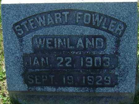 WEINLAND, STEWART FOWLER - Franklin County, Ohio   STEWART FOWLER WEINLAND - Ohio Gravestone Photos