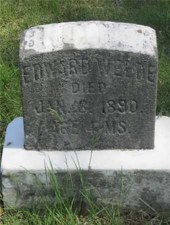 WELDE, EDWARD - Franklin County, Ohio | EDWARD WELDE - Ohio Gravestone Photos