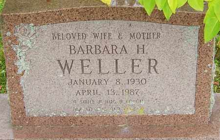 WELLER, BARBARA - Franklin County, Ohio | BARBARA WELLER - Ohio Gravestone Photos