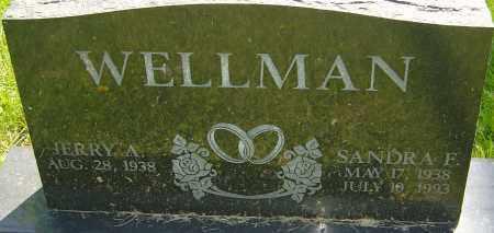 WELLMAN, SANDRA F - Franklin County, Ohio | SANDRA F WELLMAN - Ohio Gravestone Photos