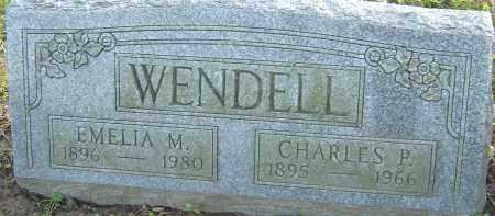 WENDELL, EMELIA - Franklin County, Ohio | EMELIA WENDELL - Ohio Gravestone Photos