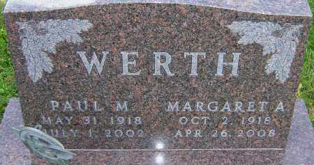 WERTH, PAUL - Franklin County, Ohio | PAUL WERTH - Ohio Gravestone Photos