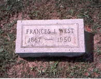WEST, FRANCES J. - Franklin County, Ohio | FRANCES J. WEST - Ohio Gravestone Photos