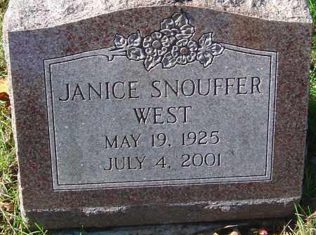 SNOUFFER WEST, JANICE - Franklin County, Ohio | JANICE SNOUFFER WEST - Ohio Gravestone Photos
