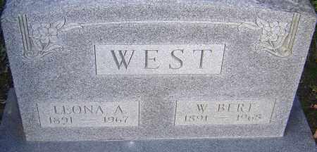 WEST, W BERT - Franklin County, Ohio   W BERT WEST - Ohio Gravestone Photos
