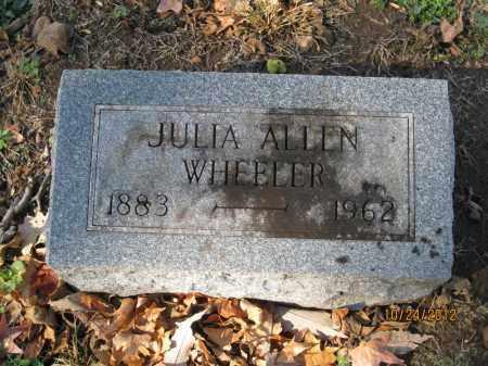 ALLEN WHEELER, JULIA MOORE - Franklin County, Ohio | JULIA MOORE ALLEN WHEELER - Ohio Gravestone Photos