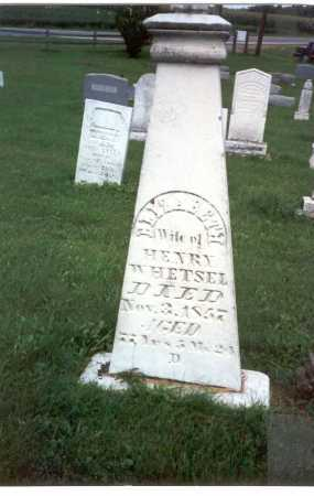 SAYLOR WHETSEL, ELIZABETH - Franklin County, Ohio   ELIZABETH SAYLOR WHETSEL - Ohio Gravestone Photos