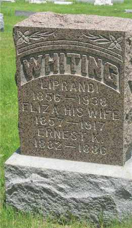 WHITING, ERNEST K. - Franklin County, Ohio | ERNEST K. WHITING - Ohio Gravestone Photos